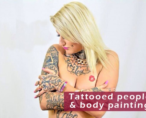 Tattooed girls & boys - Body painting